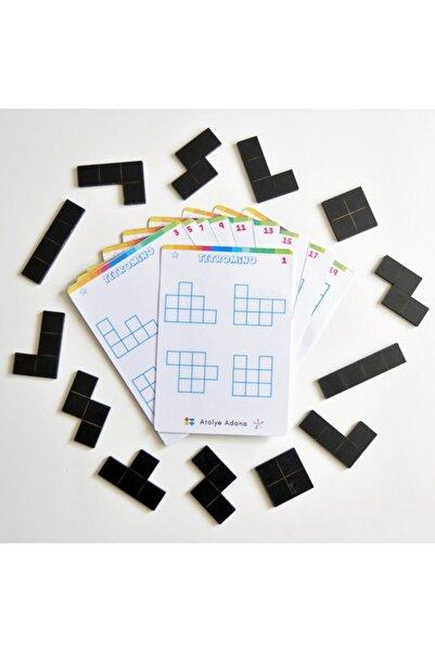AtölyeAdana Tetromino Oyunu - Matematik Akıl Zeka Strateji Mantık Beceri Gelişim Eğitici Eğlenceli Oyun