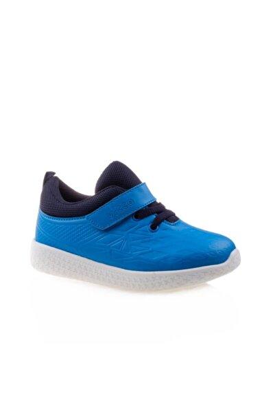 Vicco Unisex Çocuk Işıklı Smart Taban Saks Mavi Spor Ayakkabı