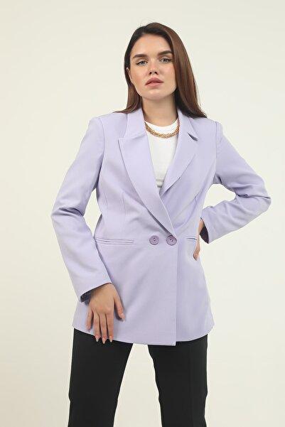 Manche Lila Kadın Ceket