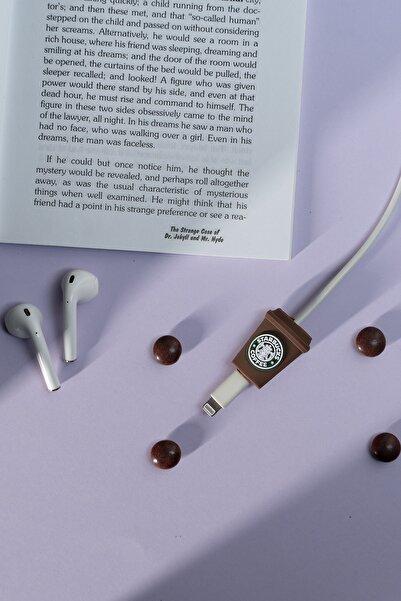 mooodcase Silikonlu Coffee Brown Kablo Koruyucu