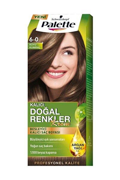Palette Kalıcı Doğal Renkler 6-0 Koyu Kumral Saç Boyası