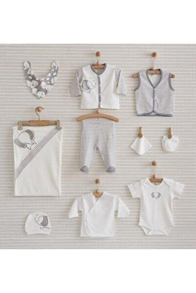 Bebbek Unisex Bebek Beyaz 10lu Hastahane Çıkış Seti