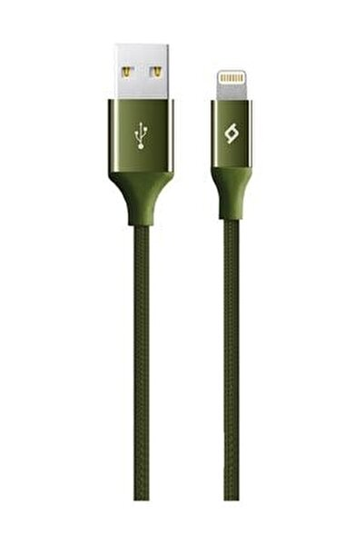 AlumiCable iPhone Şarj Kablosu Haki Yeşili 2DK16HY