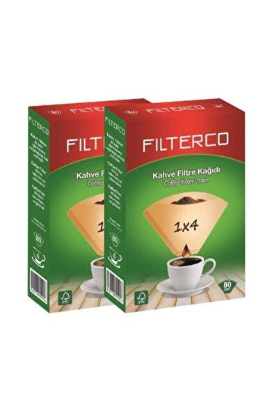 Filterco Filtre Kahve Kağıdı 1x4 80 Adet *2 'li