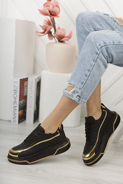 Chekich Ch041 Kadın Ayakkabı Siyah Altın