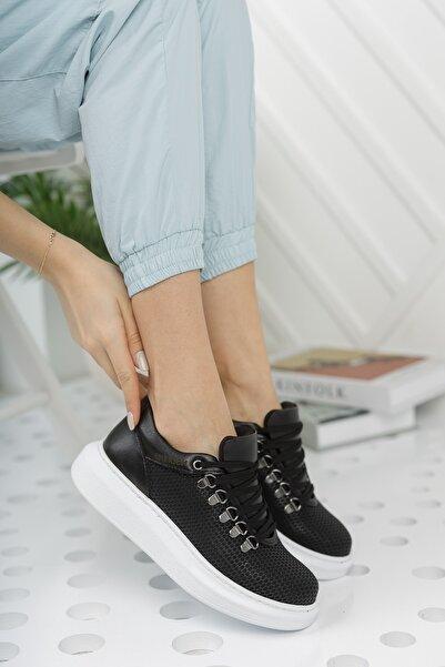 Chekich Ch021 Kadın Ayakkabı Siyah Beyaz