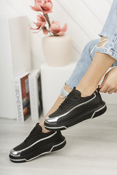 Chekich Ch041 Kadın Ayakkabı Siyah Gümüş