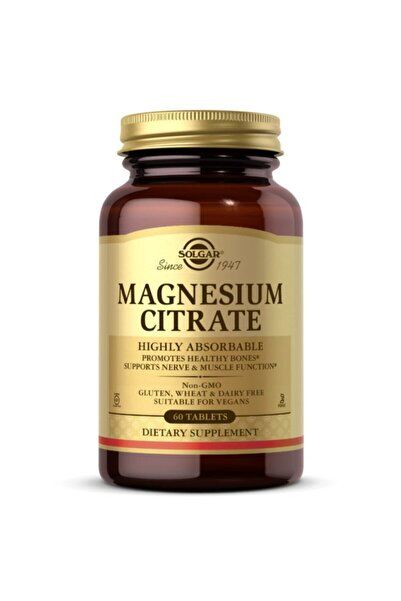Solgar Magnesium Citrate (Magnezyum Sitrat) 200mg 60 Tablet