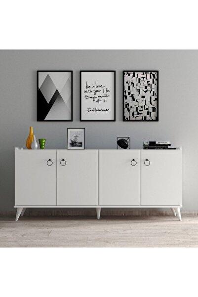 Tanmob Beyaz Modern Konsol Ksl0101