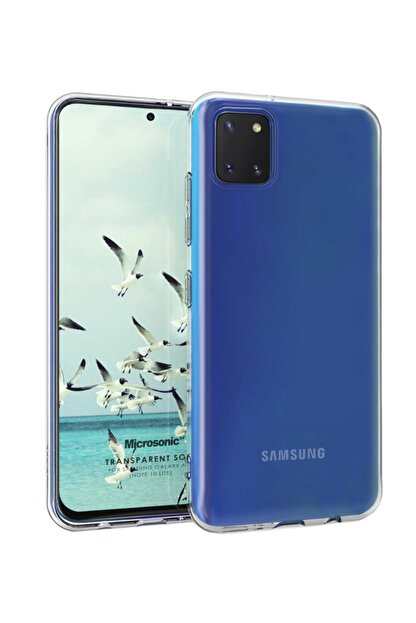 Microsonic Samsung Galaxy Note 10 Lite Kılıf Transparent Soft Beyaz