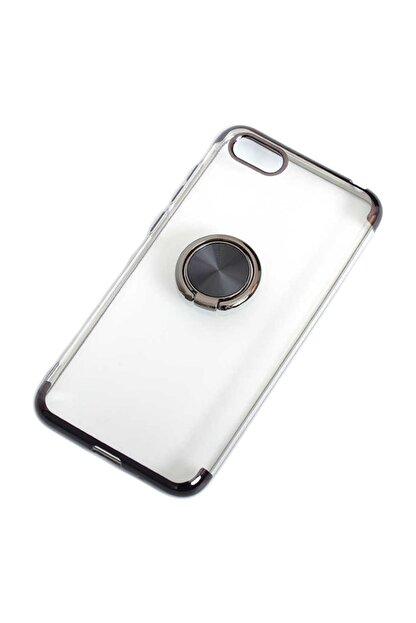 Aksesuarcım Huawei Honor 7s Kılıf Standlı Yüzük Mıknatıslı Şeffaf Silikon Koruma