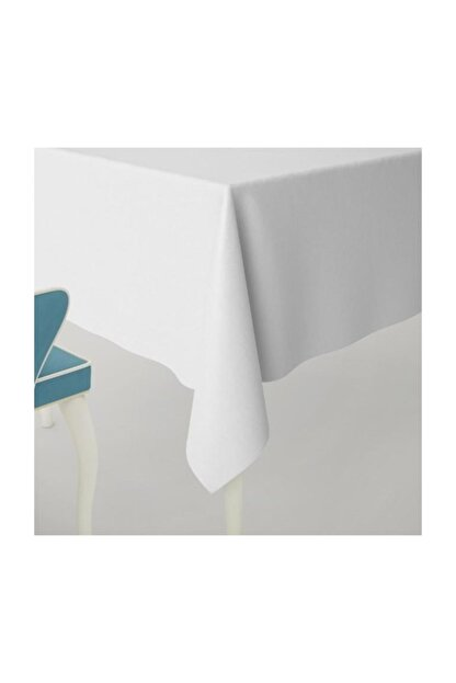 LARİS Duck Masa Örtüsü Su Geçirmez Leke Tutmaz Beyaz 160 x 250 cm