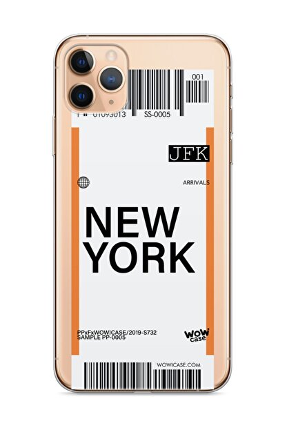 wowicase Apple Iphone 11 Pro Telefon Kılıfı Uçak Bileti Tasarımlı