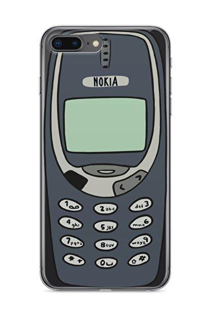 wowicase Apple Iphone 8 Plus Telefon Kılıfı Orjinal Nokia 3310 Tasarımlı