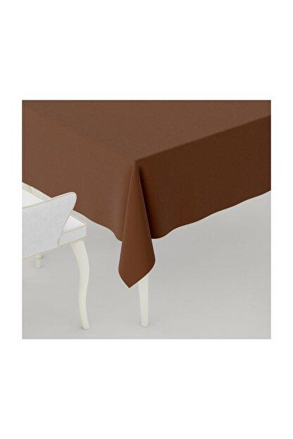 LARİS Duck Kumaş Masa Örtüsü Leke Tutmaz Kahve 170x140 cm