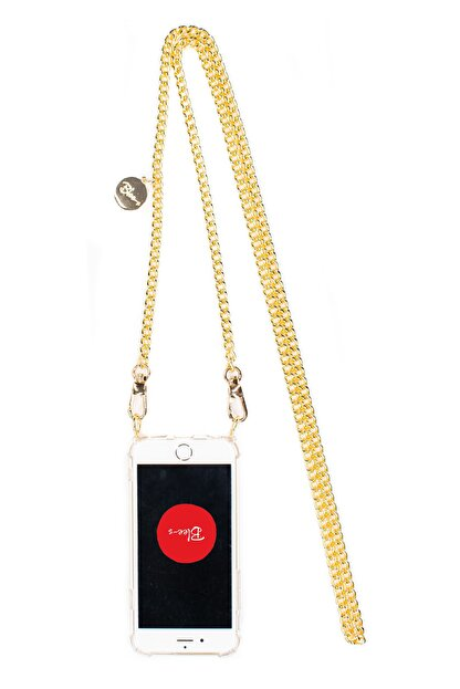 Blee-s Iphone 11 Gold Zincir Askılı Cep Telefonu Kılıfı-elsa