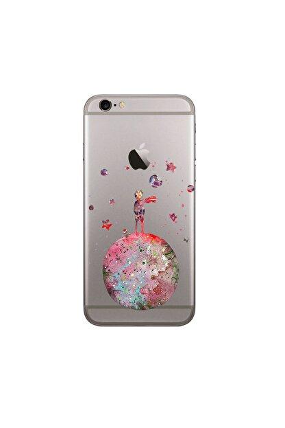 KILIFON Apple 6-6s Küçük Prens Desenli Şeffaf Kılıf