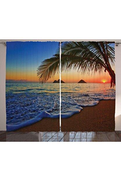 Orange Venue Sahil Perde Denizde Gün Batımı Romantizmi