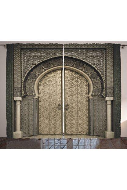 Orange Venue Etnik Perde Oryantal Kapı Temalı 130x270 cm