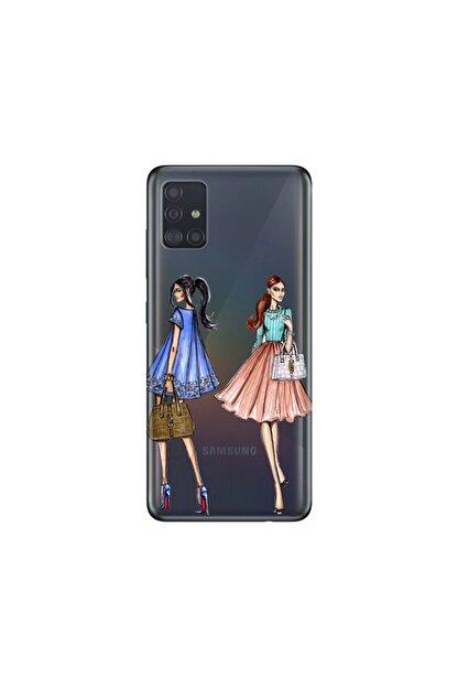 cupcase Samsung Galaxy A71 Kılıf Desenli Esnek Silikon Telefon Kabı Kapak - Fashion Miss