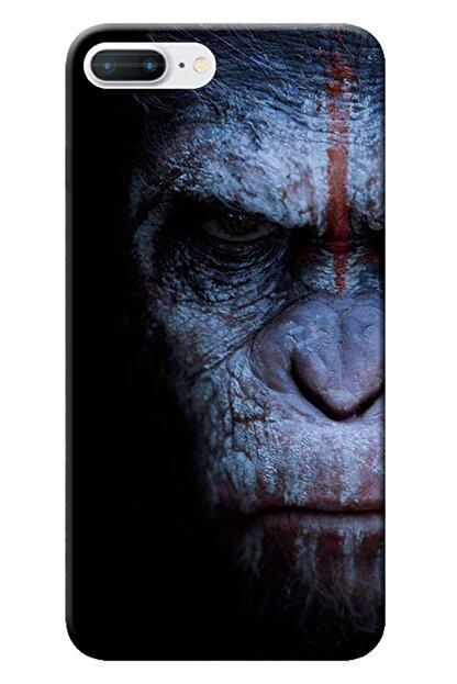 Kılıfmerkezi Iphone 7 Plus Kılıf Desen Baskılı Silikon Maymun Face Stk:147