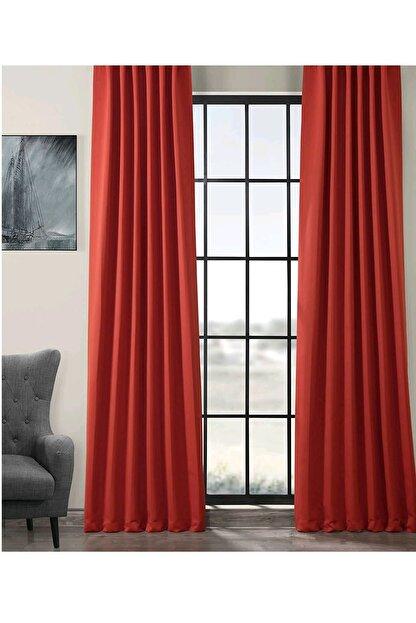 Evdepo Home Karartma Blackout Pilesiz Fon Perde - Kırmızı