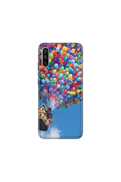 cupcase Xiaomi Mi A3 Kılıf Esnek Silikon Telefon Kabı Kapak - Balonlu Ev