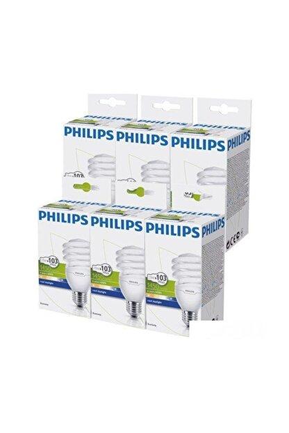Philips Economytwister 23w E27 Normal Duy Beyaz Işık 6`lı Ekopaket
