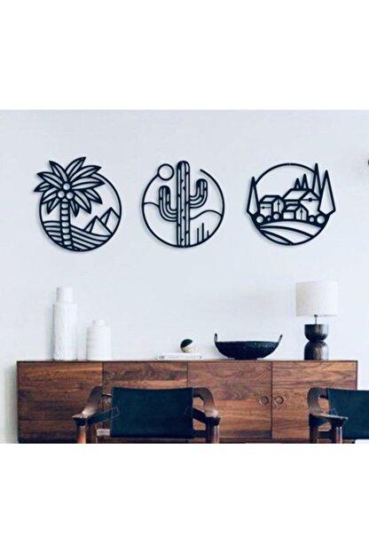 Creality Concept Siyah Ahşap Palm Duvar Dekoru