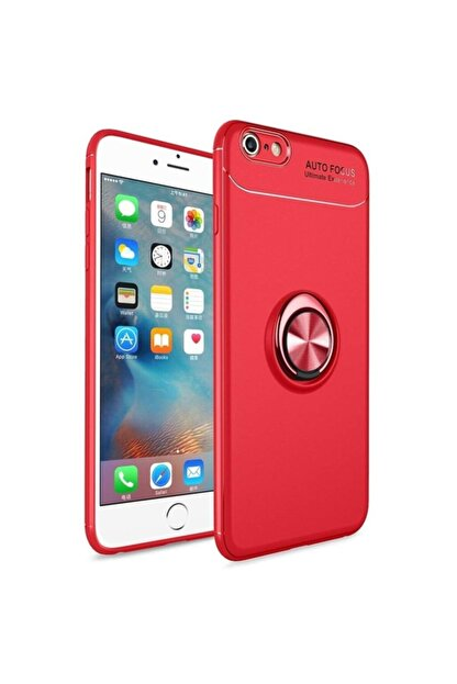 Fibaks Apple Iphone 7 Kılıf Ravel Metal Yüzüklü Standlı Shockproof Silikon