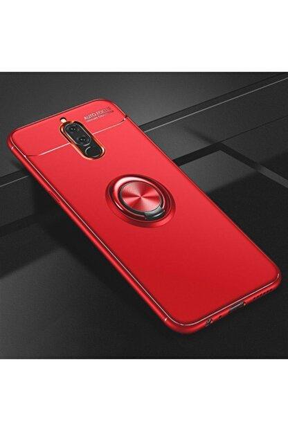 Kilifplus Huawei Mate 10 Lite Kılıf Auto Focus Serisi Standlı Yüzüklü Kapak - Kırmızı