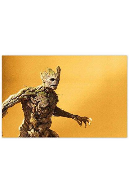 Cakatablo Ahşap Tablo Avengers Infinity War Groot -35-50 Cm