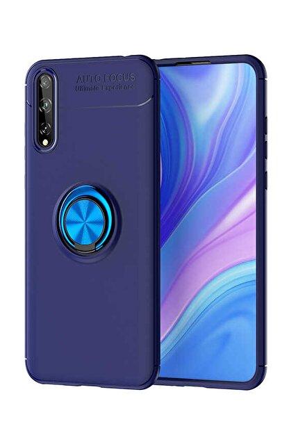 Elfia Huawei P Smart S Kılıf Silikon Koruma Yüzük Mıknatıs Tutuculu Standlı