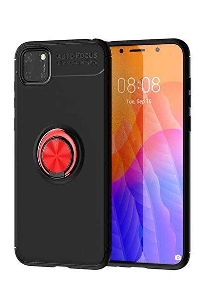 Elfia Huawei Y5p Kılıf Silikon Koruma Yüzük Mıknatıs Tutuculu Standlı