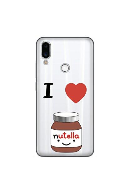 cupcase Meizu Note 9 Kılıf Esnek Silikon Kapak Nutella Desenli + Nano Cam