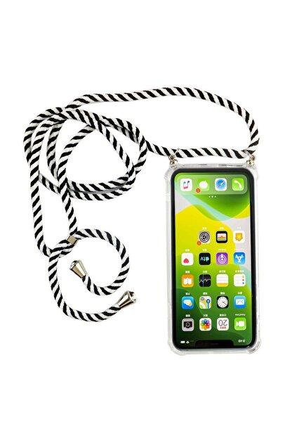 mtncover Iphone 6 Plus Için Boyun Askılı Şeffaf Çok Şık Kılıf Siyah-beyaz Zebra Ipli