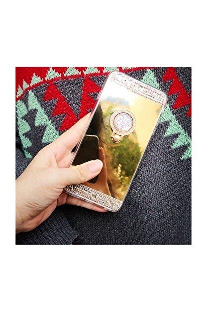 Ksyaccessories Iphone 7 Plus Aynalı Ve Taşlı Selfie Yüzüklü Telefon Kılıfı