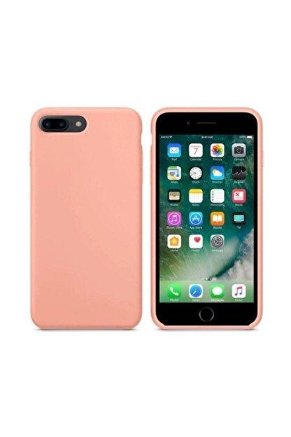 Zengin Çarşım Apple Iphone 7 Plus -8 Plus Pembe Kadife Lansman Silikon Kılıf