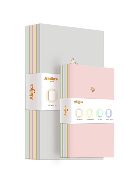 AKILLICA 8'li Defter Set Soft Pastel Notebook