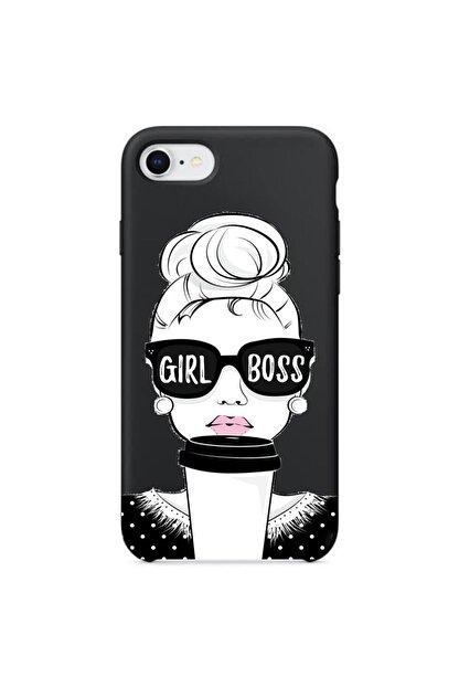 Mobildizayn Apple Iphone Pro Max Girl Boss Yazılı Silikon Kılıf
