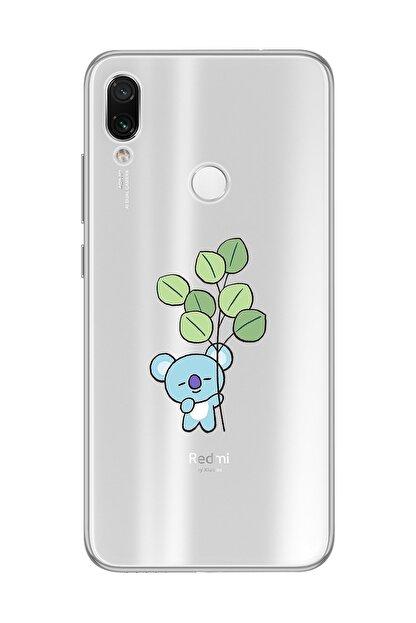 Mupity Yapraklı Koala Tasarımlı Xiaomi Redmi Note 7 Şeffaf Telefon Kılıfı