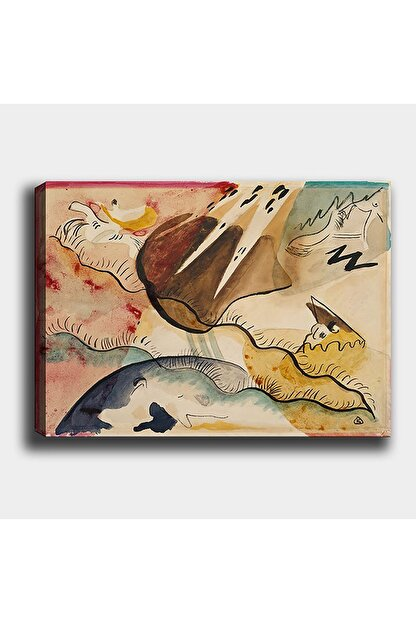 Syronix Vasily Kandinsky 1911-yağmur Manzarası Kanvas Tablo 60 X 40 cm Sb-33276