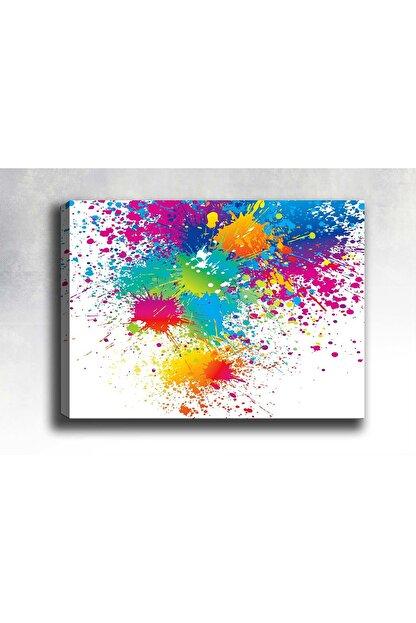 Shop365 Çok Renkli Soyut Kanvas Tablo Sb-21860