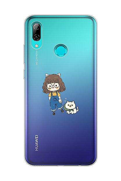Mupity Şeffaf  Sevimli Dostlar Tasarımlı Huawei P Smart 2019 Telefon Kılıfı