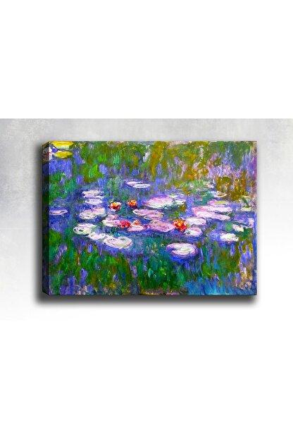Syronix Nilüferler Soyut Kanvas Tablo 75x50 cm Sb-21529