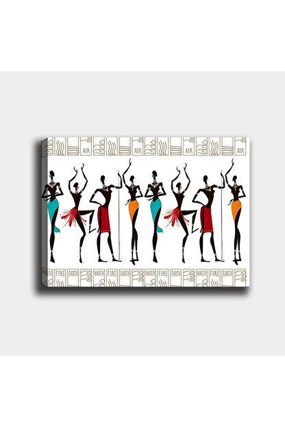 Shop365 Afrikalı Kızlar Kanvas Tablo 45 X 30 cm Sb-2157