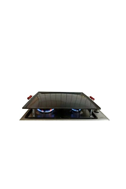 SilverPlus Ocak Üstü Kare Yufka Gözleme Bazlama Izgara Közleme Sacı 50x50 Cm Bombeli Kulplu Kapalı Köşe