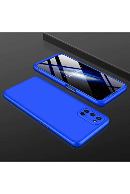 Oppo A72 Sert Silikon Kılıf Mavi