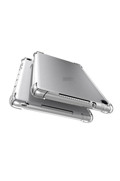 """Huawei Mediapad T5 10.1"""" Kılıf Anti Shock Köşe Korumalı Darbe Emici Şeffaf Silikon + Ekran Koruyucu"""