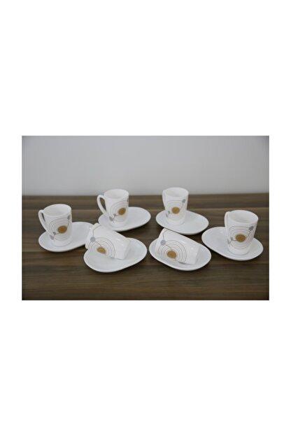 Luminarc Sequins 6'lı Beyaz Çay Fincanı Seti 220 ml